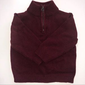 Cute Burgundy Toddler Boy Sweater Pullover